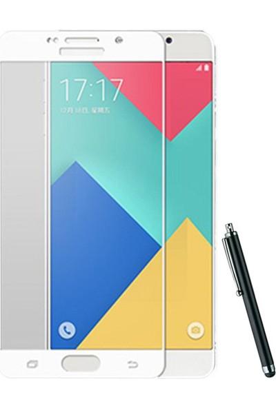 CoverZone Samsung Galaxy A3 2017 Full Kaplayan 3d Tempered Koruyucu + Dokunmatik Kalem + 3d Araç Kokusu