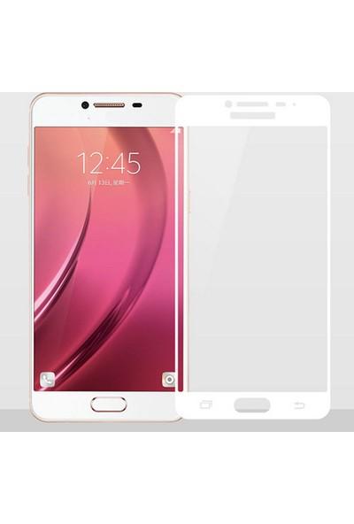 CoverZone Samsung J5 Prime Full Kaplayan 3d Renkli Tempered Koruyucu