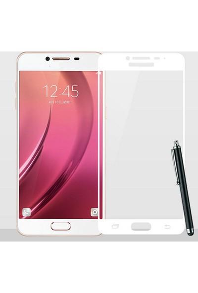 CoverZone Samsung J7 Prime Full Kaplayan 3d Renkli Tempered Koruyucu + Dokunmatik Kalem + 3d Araç Kokusu