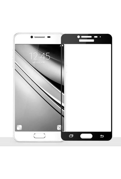 CoverZone Samsung J7 Prime Full Kaplayan 3d Renkli Tempered Koruyucu