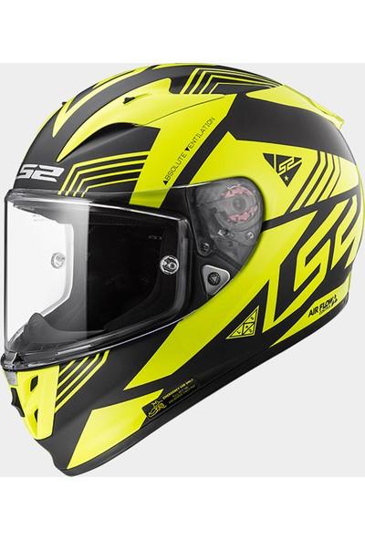 Ls2 Ff323 Neon Siyah-Sarı Kask L