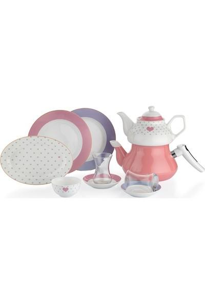 Schafer In-Glaze Brillant 31 Parça 6 Kişilik Porselen Kahvaltı Takımı