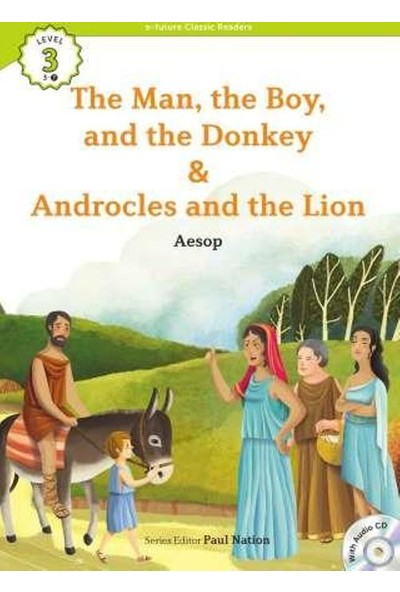 The Man, The Boy, And The Donkey: Androcles And The Lion +Cd (Ecr Level 3)