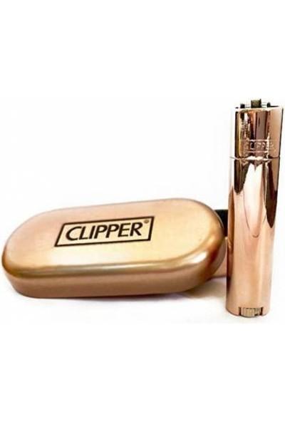 Clipper Metal Çakmak Rose Parlak