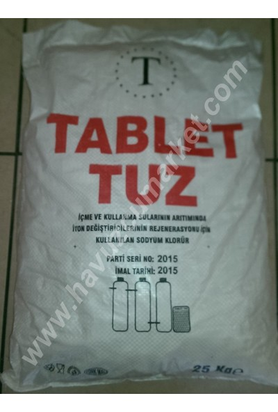 Tablet Tuz 25Kg (Sodyum Klorür)