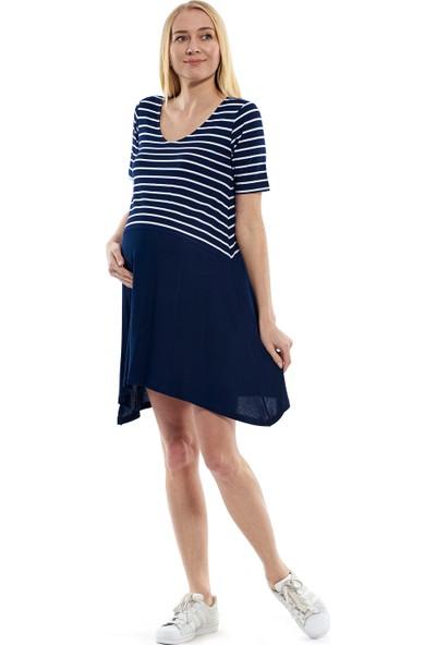 Motherway İki Renk Elbise