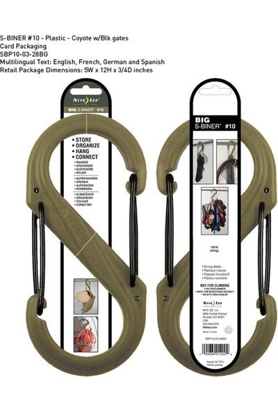 Nite-İze S-Biner Plastik Size 10 Coyote/Blk Gate