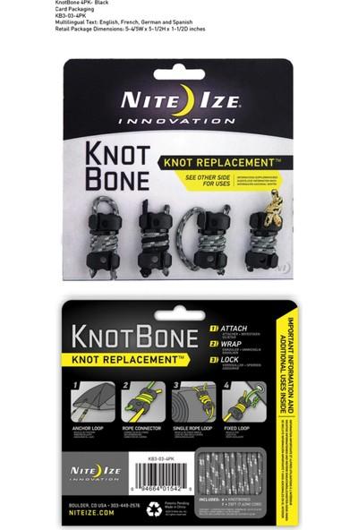 Nite-İze Knotbone No3 4Pack Wıth Cord