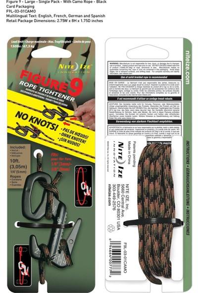 Nite-İze Fıgure 9 Large Black Wıth Camo Rope