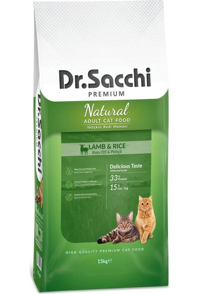 Dr. Sacchi Premium Natural Lamb & Rice Yetişkin Kedi Maması 15 Kg