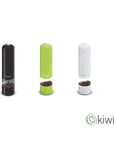 Kiwi Pilli Karabiber ve Tuz Değirmeni - Beyaz