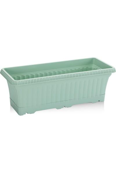 Hiper Ova Balkon Saksı 3,5 lt Su Yeşili