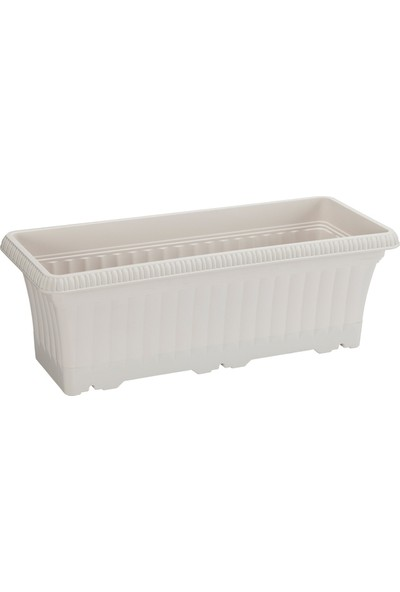 Hiper Ova Balkon Saksı 5,7 lt Beyaz