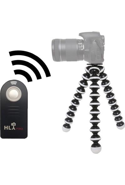 Nikon D3300 İçin HLYpro Gorillapod Tripod + ML-L3 Uzaktan Kumanda