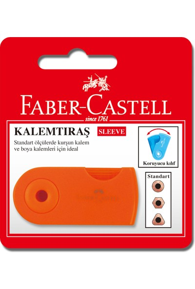 Faber Castell Bls. Sleeve Neon Kutulu Kalemtraş, Tekli