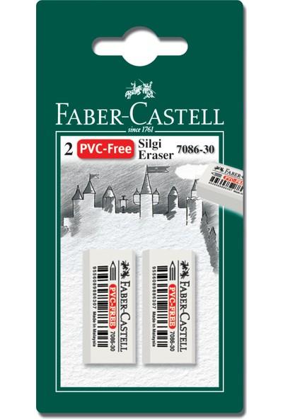 Faber Castell Bls. Plastik Silgi (7086/30), Beyaz, 2'li