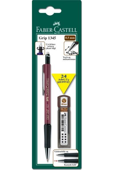 Faber Castell Bls. Grip II 1345 Versatil+Min Seti 0,5mm 2B (Bordo-Lacivert-Yeşil-Siyah)