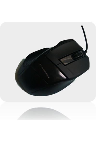 Hadron Usb Kablolu Şık Tasarım Siyah Renk Mouse. Hd-5607