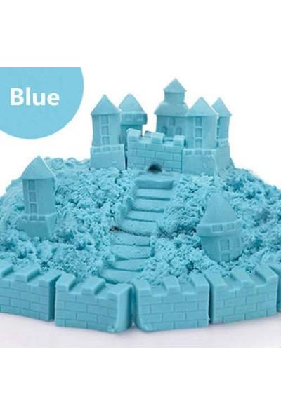 Heroes Kinetik Kum Kovalı Set Mavi Renk 1 kg + 6 Parça Oyun Kalıbı