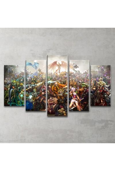 Plustablo Lol ''League Of Legends'' 5 Parça Kanvas Tablo