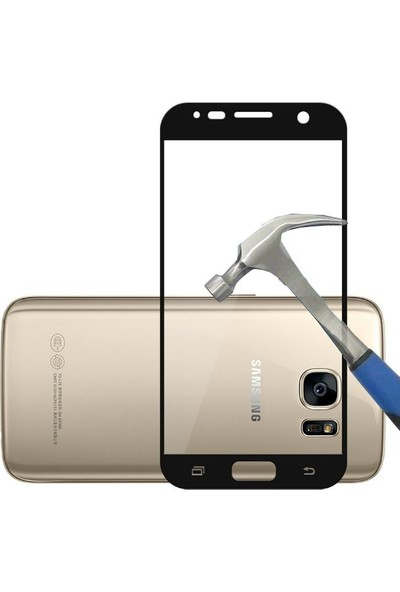 Teleplus Samsung Galaxy S7 Temperli Cam Ekran Koruyucu Full Kaplayan Siyah