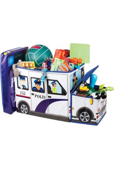 Dekohouse Katlanabilir Oyuncak Kutusu Polis Arabası