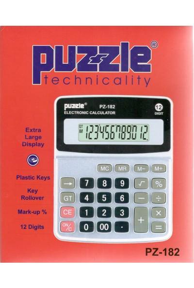Puzzle Hesap Makinası Pz-182 Küçükboy
