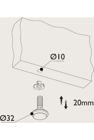 Gürçay Paslanmaz Bingo Ayak 4'lü Metrik 8mm Diş