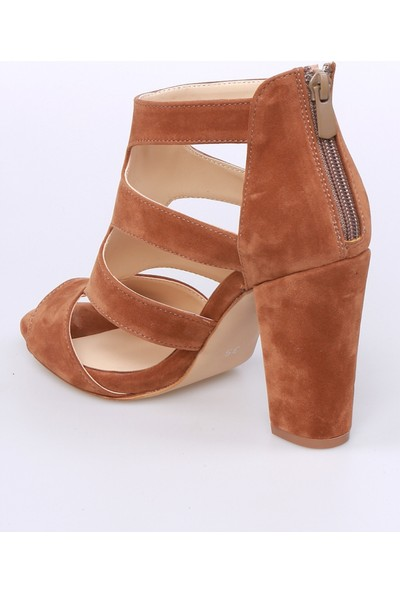 Sms Taba Nubuk Kadın Ayakkabı-2178