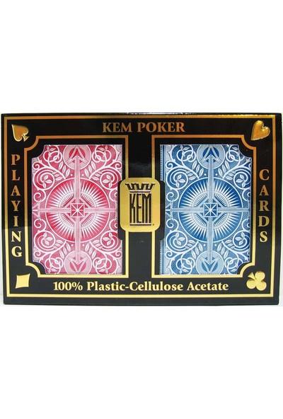 Pusula Oyun Kem Poker Oyun Kartı 2'li Set (Jumbo Harf Texas Holdem)