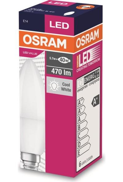 Osram 5 Watt E-14 İnce Duy 6500 Kelvın Buji Led Ampul