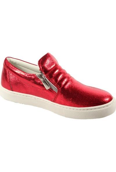 Papşin Clup 271-1200 Kırmızı Simli Kız Çocuk Ayakkabısı