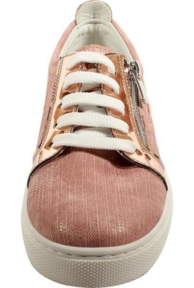 Papşin Clup 271-116 Pudra Simli Kız Çocuk Ayakkabısı