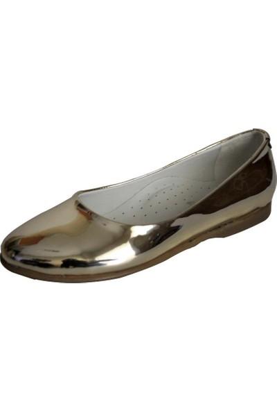 Papşin Clup 271-2053 Gold Babet Kız Çocuk Ayakkabısı