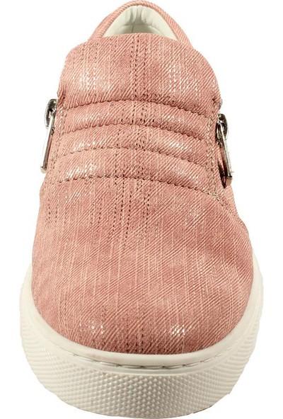 Papşin Clup 271-1200 Pudra Simli Kız Çocuk Ayakkabısı