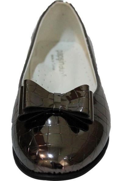 Papşin Clup 271-2053 Bronz Kroko Fiyonklu Babet