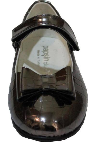 Papşin Clup 271-2053 Bronz Kroko Fiyonklu Atkılı Çocuk Babet
