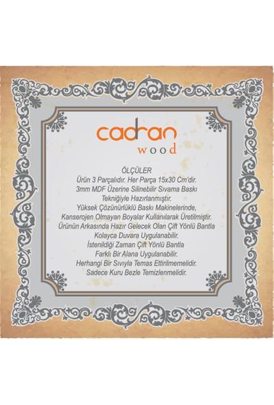 Cadran Wood 15x30 Cm 3 Parçalı MDF Tablo SCW90
