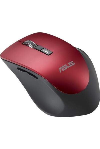 Asus WT425 Kablosuz Optik Sessiz Tıklama Özellikli Kırmızı Mouse
