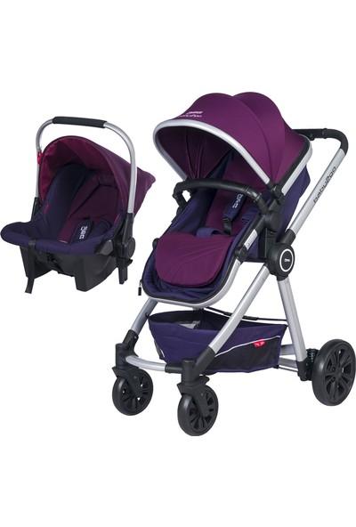 Baby2Go 6033 Power Travel Puset - Mor