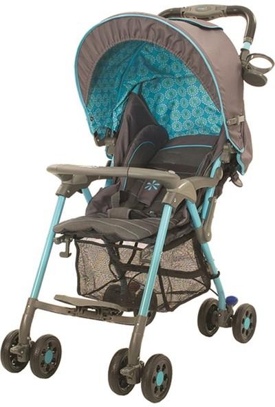 Crystal Baby 218 Elegance Tek Yönlü Puset - Mavi