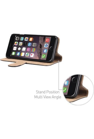 DC Luca Book Deri Apple iPhone 7 Kapaklı Kartlıklı Stand Kılıf