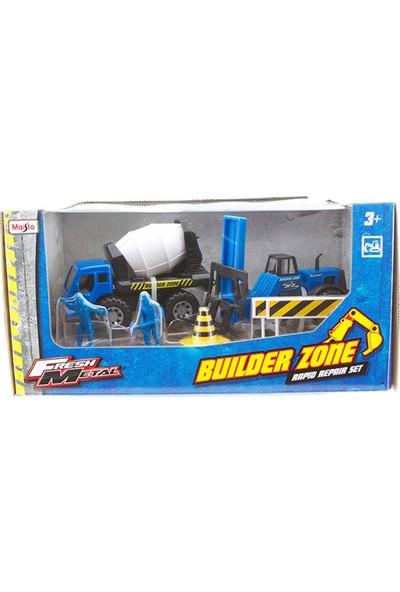 Maisto İnşaat Araçları Mikser Ve Forklift İnşaat Seti 22326