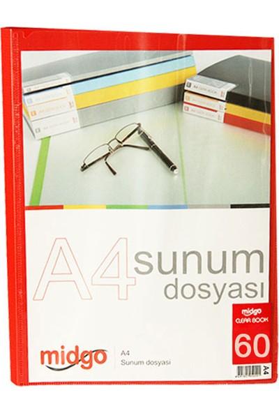 Midgo A4 60'lı Şeffaf Sunum Dosyası Ng-60A -50607