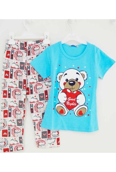 Mini Okyanus 4084 Baskılı Pijama Takımı