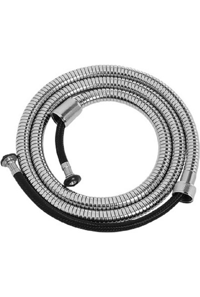 RST® MANNESMANN Spiral Duş Hortumu (Örgülü-İnce Kenetli) 150 cm Poşet Ambalajlı