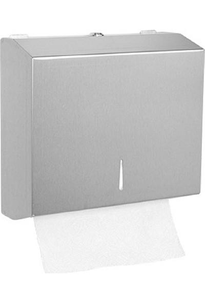 RST® MANNESMANN Kağıt Havluluk Dispanseri - 200 Kağıt Kapasiteli - 430 Paslanmaz