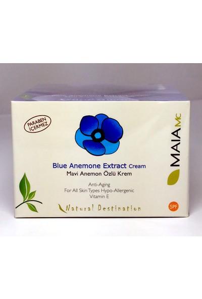 Maıa Mavi Anemon Özlü Krem Blue Anemon Cream Paraben İçermez 50ml