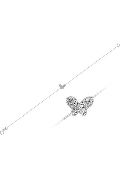 Sare Pırlanta Pırlanta Taşlı Kelebek Bileklik