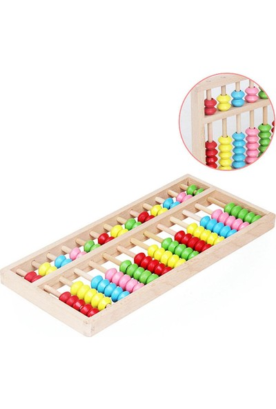 Ds Wooden Toys 13 Stalls Beech Abacus - 13 Basamaklı Mental Abaküs Renkli Ahşap